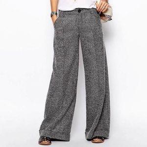 {Free People} Wide Leg Herringbone Trousers 4 NWT